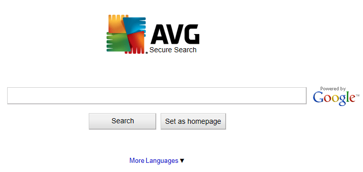 avg secure search screenshot